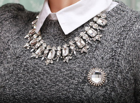 Crystal Gems Collar Necklace