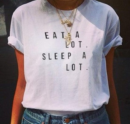 "YONCE ""Eat a Lot, Sleep a Lot"" T-shirt"
