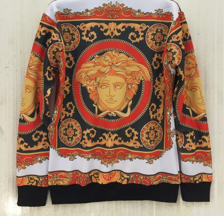 """Red Dream"" Medusa Baroque Print Sexy Sweater"