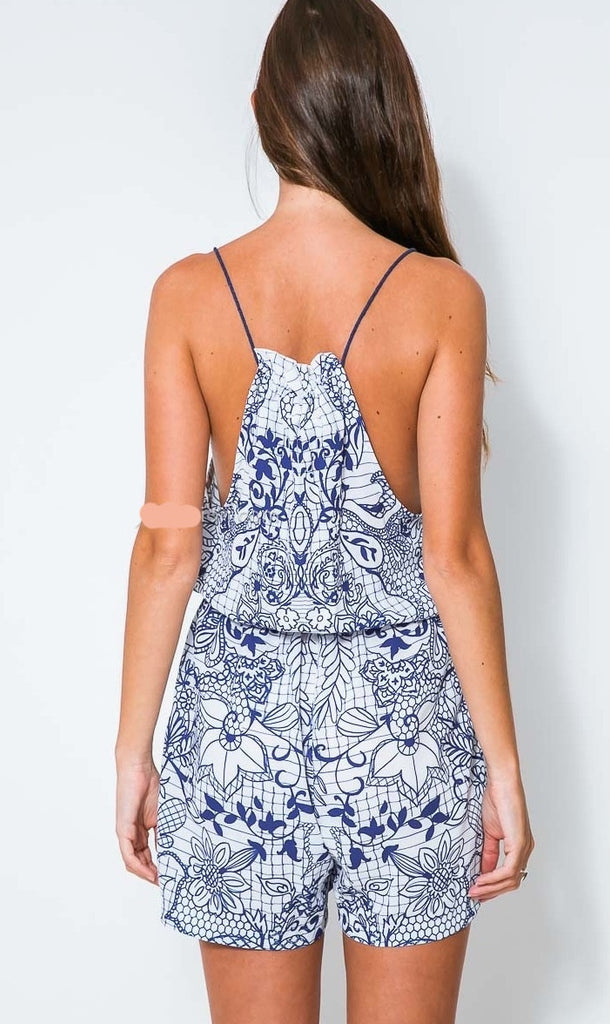 """Afternoon Affair "" OnePiece Playsuit Romper"