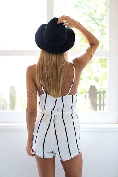 """All in A Name"" Stripes Onepiece Romper Playsuit (2 colors available)"