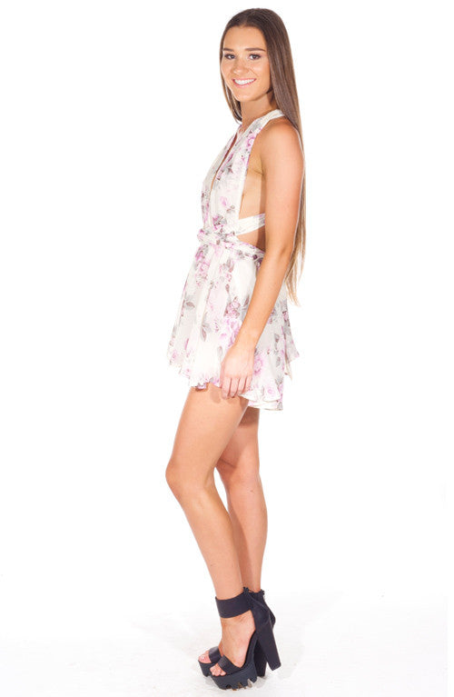 """Lilacy Dream"" Floral OnePiece Playsuit Romper"