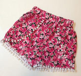 Floral Garden Pom Pom Shorts (2 colors available)