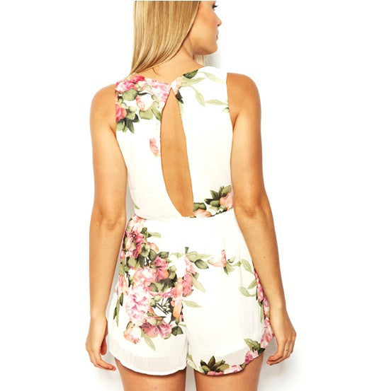 "CHIC ""Flower Dream"" Print Playsuit"