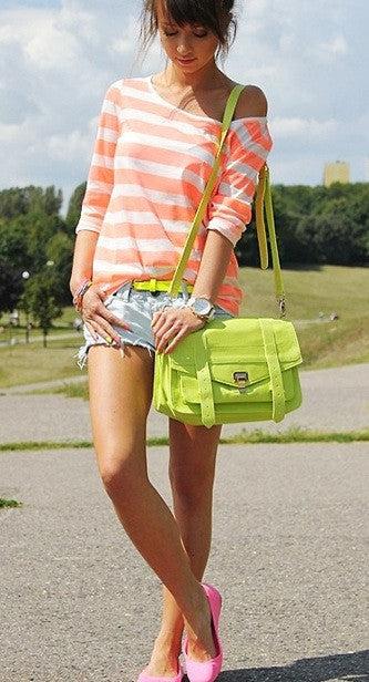 PS1 Fluorescent Peach Satchel
