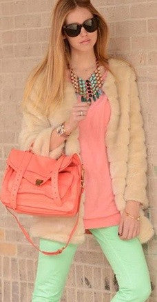PS1 Fluorescent Pink Satchel