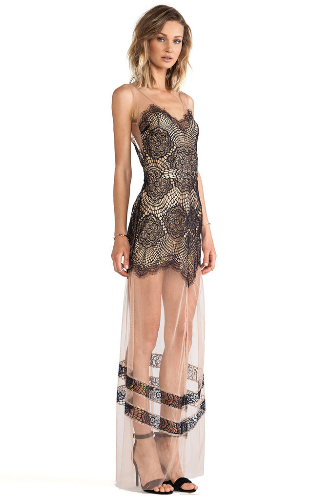 Antigua Laces And Mesh Maxi Dress (2 colors available)