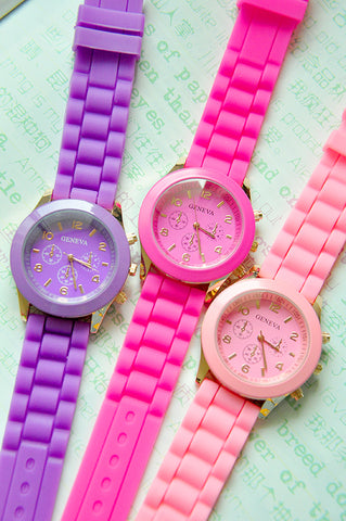 Kim Silicone Watch (9 COLORS AVAILABLE)