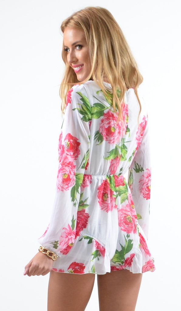 """Garden of Roses"" Floral OnePiece Romper Jumpsuit"