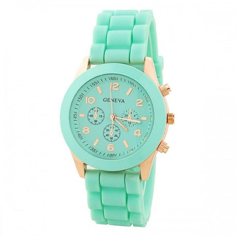 Summer Mint Silicone Watch