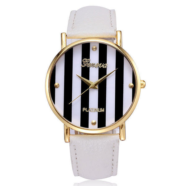 GENEVA Stripes Watch (5 COLORS AVAILABLE)