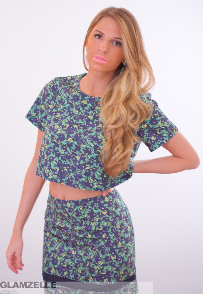 """The Green Quest"" Two Piece Mesh Dress"