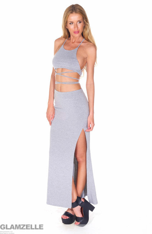 """Shake It Off"" Criss Cross Maxi Dress (2 colors available)"