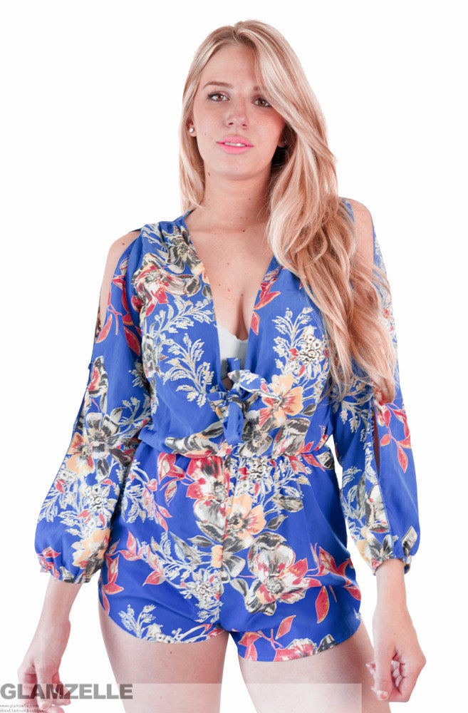 """Royal Highness"" Floral OnePiece Playsuit Romper"