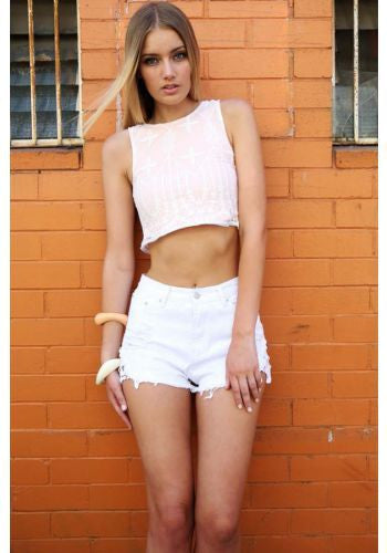 Cheeky Crochet Cut Off Shorts (2 colors available)