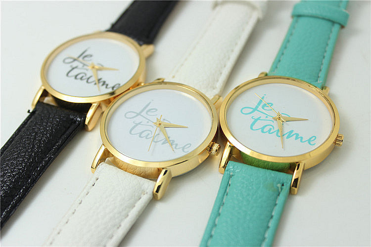 """Je T'aime"" I Love You Print Watch (3 colors available)"