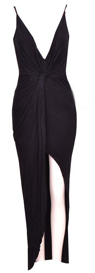 """Keep Them Waiting"" Side Knot Maxi Dress (3 colors available)"