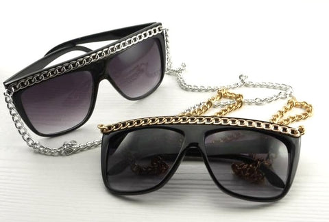 Lady Gaga Long Chains Sunglasses