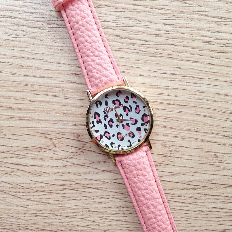 """Call of Nature"" Leopard Print Watch (4 colors available)"