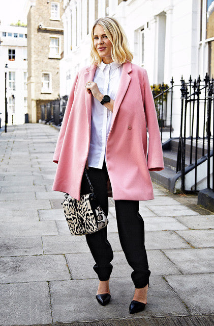 Bubblegum Life&quot Long Tie Waist Oversized Pink Coat – Glamzelle