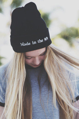 """Made in the 90s"" Print Beanie"