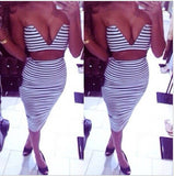 MAESTRO Striped 2 pieces Dress