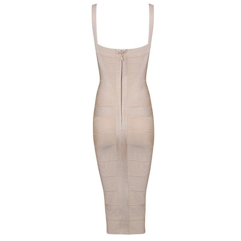 """Nude Attraction"" Skin Color Bandage Dress"