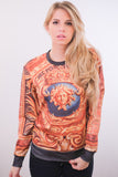 Medusa Head Print Sweater