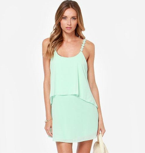 "CHIC ""I'm All Tiers"" Pastel Daisy Straps Dress (5 colors available)"
