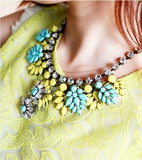 Neon Resin Flowers Necklace