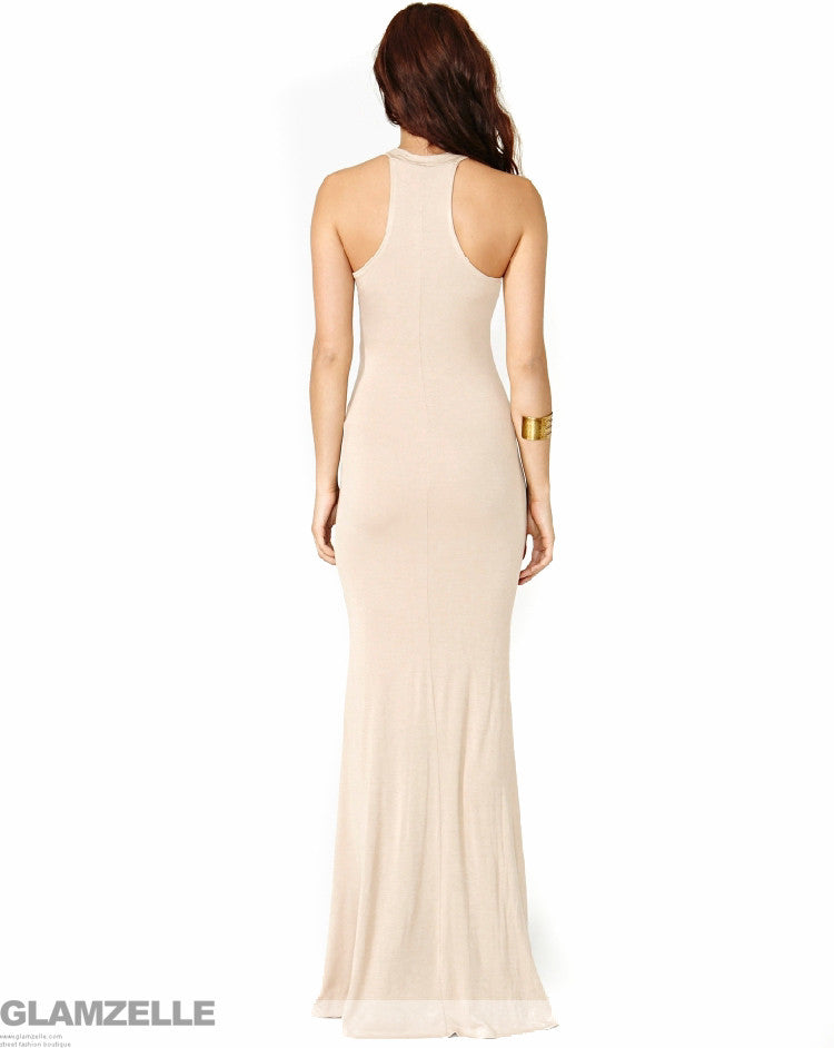 """Nude Illusion"" Silhouette Maxi Dress"