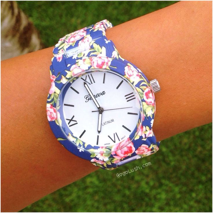 """Floral Vibe"" Flower Print Watch (5 colors available)"