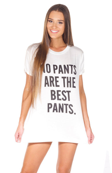 "YONCE ""No Pants Are the Best Pants"" T-shirt"