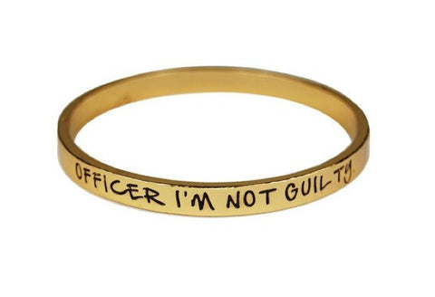 Officer, I'm not Guilty Bangle Bracelet