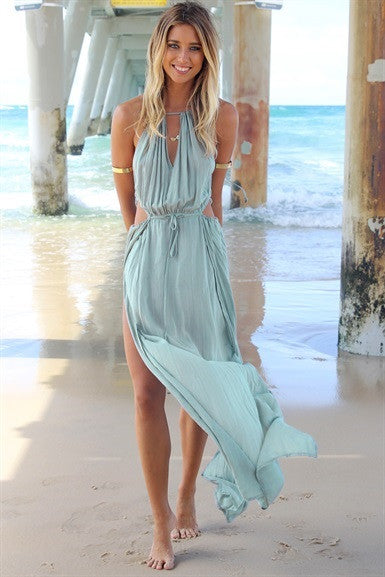 The Orchard Maxi Split Dress