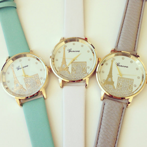 """Meet me in Paris"" Eiffel Tour Print Watch (3 colors available)"