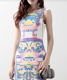 Tribal Print Bodycon Dress (2 COLORS AVAILABLE)