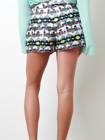 "CHIC ""Lesson in Geometry"" Skort Shorts"