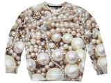 Pearls Printed Sexy Sweater