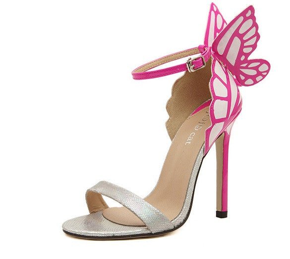 "Chiara ""Butterfly Wings"" Stiletto Sandals"
