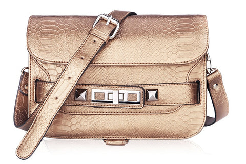 PS11 Python Shoulder Bag-Copper