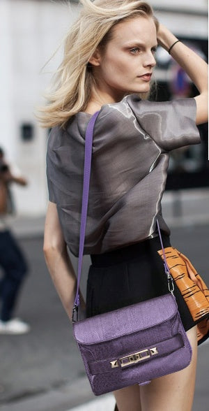 PS11 Python Shoulder Bag- Purple