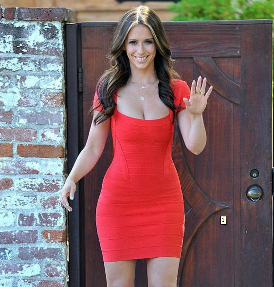 """Lady in Red"" Red Backless Low Back Bandage Dress"