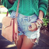 Blue Jeans Ripped Shorts