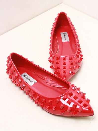 ROCKSTUD Studded Ballerina Flats (2 colors available)