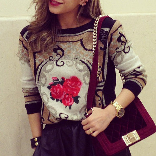 Baroque Rose Sweater