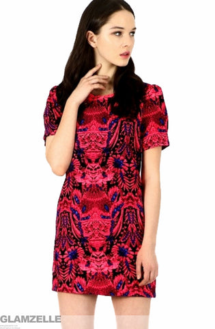 Safari Fuchsia Print Dress