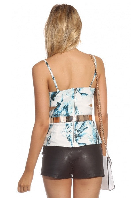 "CHIC "" Checking You Out"" Structured Tank Top"