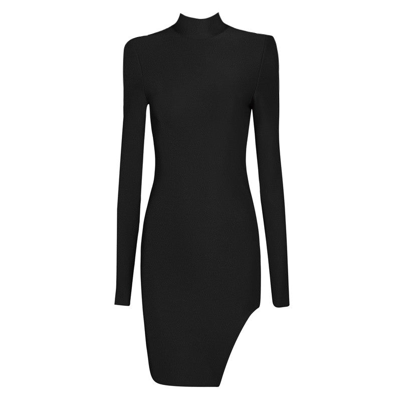 Chloe Sexy Turtleneck Bandage Bodycon Dress (3 colors available)