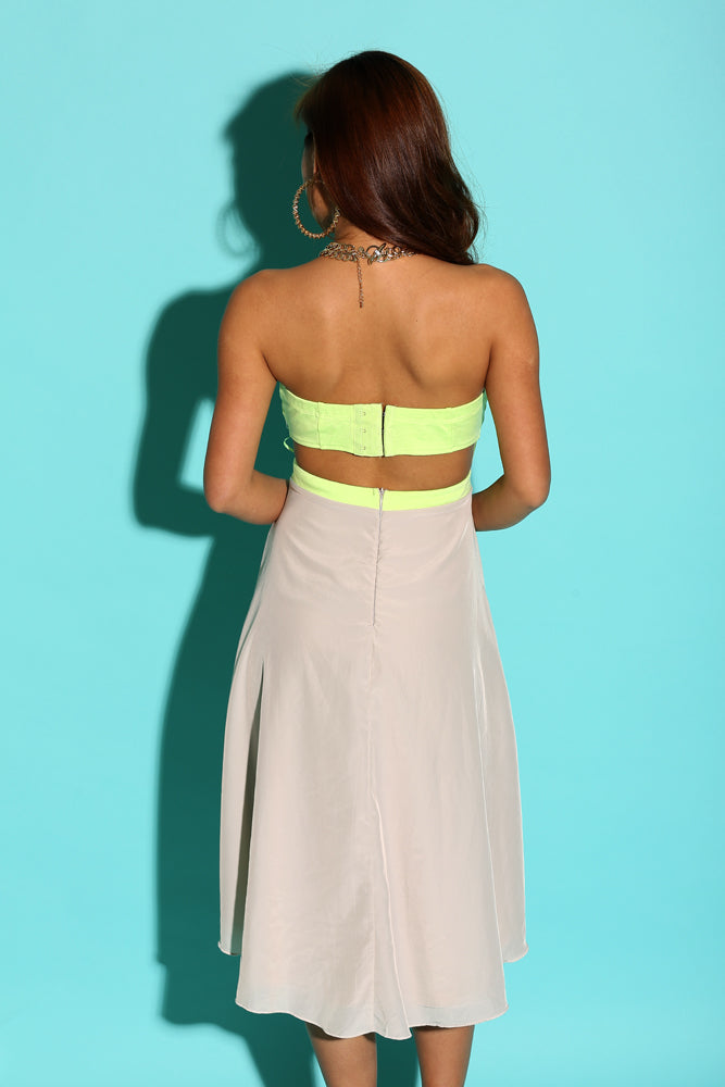 Daisy Side Cut-out High Low Dress